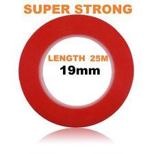 19mm rouge double face adhésive collante tape easy lift super fort longueur 25M