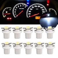 10pcs White B8.5D 5050 Led 1 SMD T5 LED Lamp Car Dashboard instrument Light Bulb
