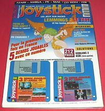 Magazine Joystick [n°36 Sp Mars 93] Amiga Atari PC CD-Rom Mac Lemmings 2 *JRF