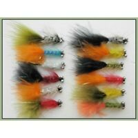 Lures 36 Variety Pack of Goldhead Fritz Trout Flies Fishing Flies Size 10 SF4O