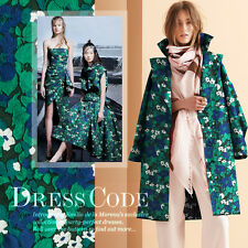 3D Jacquard Fashion Designer Fabric Green Floral Sewing Coat Craft By The Yard