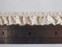 5m x 12mm Ecru lace edge lingerie knicker elastic trim braid edging crafts goth