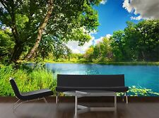 Clean lake in green spring Mural Photo Wallpaper Decor Paper Wall Background 3D