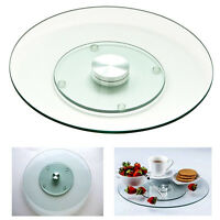 """Swivel Lazy Susan Tempered Glass 10"""" Rotating Serving Tray Platter Table Kitchen"""