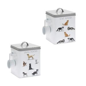 LARGE Metal Dog Cat Food Treats Organised Storage Tin Scoop Durable Handle 25cm