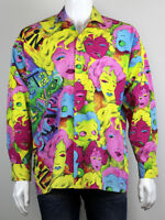 EXTREMELY RARE VERSACE 90'S VINTAGE MARILYN MONROE BETTY BOOP PRINT SHIRT SIZE L