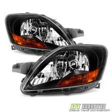 Blk 2007-2011 Toyota Yaris 4Dr Sedan Headlights Headlamps Left+Right Aftermarket