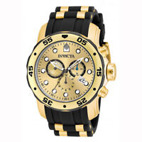 Invicta 17885 Men's Pro Diver Gold Tone Dial Chronograph Watch