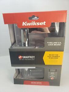 Kwikset Polished Chrome Halifax Square Keyed Entry Lever 91560-008 Free Shipping