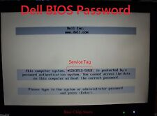 BIOS / HDD Password Unlock for all Dell locked ending A95B / 2A7B / 595B / D35B