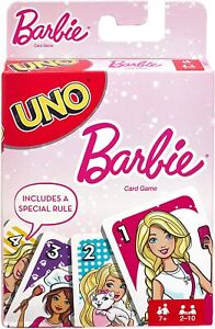 UNO Barbie Characters Matching Card Game for 2-10 Players Ages 7Y+ FMP71 NEW