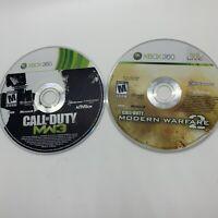 Lot of Microsoft XBOX 360 Call of Duty Modern Warfare MW2 + MW3 Game / Disc Only
