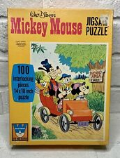 Vintage Walt Disney Mickey Mouse Puzzle Whitman 1960's Jigsaw 100 Pieces