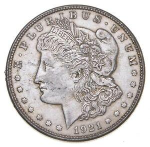 Early 1921-D Morgan Silver Dollar - 90% US Coin *206