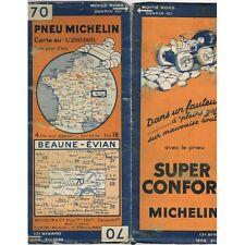 CARTE Michelin N°70 BEAUNE-ÉVIAN Bern Fribourg Montreux Mâcon Tournus Bulle 1932