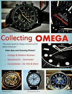 Coleccionar Omega Reloj Libro Seamaster Speedmaster Oscuro Lado De Luna Funda