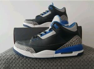 Nike Air Jordan 3 Retro 'Sport Blue' - UK Size 12 - 136064 007 - Used