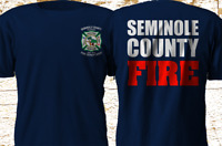 New SEMINOLE COUNTY FLORIDA Fire Department Firefighter Rescue T-Shirt S-4XL