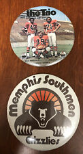 WFL World Football League Lot Button Standups Csonka Kiick Warfield Grizzlies
