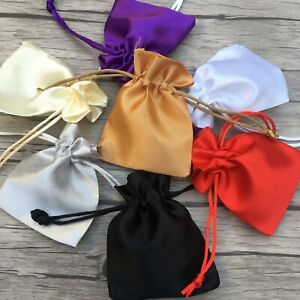 Luxury Satin Silk Jewellery Drawstring Gift Bag Favour Wedding Party Pouches