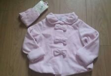 BNWT NEXT CUTE PINK BOWS SOFT FLEECE COAT JACKET AND TIGHTS 3-4 SALE 🍀🍀🍀