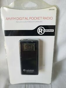 Radio Shack Digital AM/FM Pocket Radio New Sealed 1201518