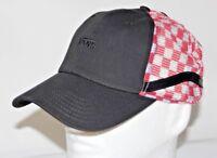 Vans Retro Sidestripe Court Trucker Checkerboard Mesh Hat in Black, White & Red