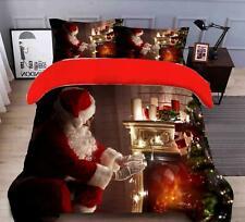 3D Weihnachtsmann Kerze M660 Weihnachten Steppdecke Bettbezug Christmas Bett Fay