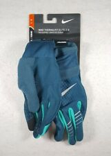 New Large Nike Women's Therma-FIT Elite 2.0 Gloves Space Blue/Turbo Green/Silver