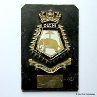 INS Delhi C74 / HMS Mauritius - Indian Navy Maritime Tampion Plaque Badge Crest