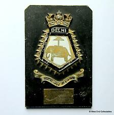 INS Delhi C74 / HMS Mauritius - Indian Navy Maritime Tampion Plaque Badge Crest