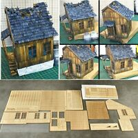 1/35 Ruin Section Military Building Destroyed European City Wooden House Model
