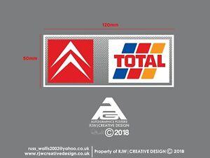Citroen Total Rear Window Sticker in colour - Berlingo, Xsara, AX, Saxo, ZX, C15