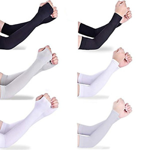 6 Pairs Arm Sleeves UV Sun Protection Arm Sleeves for Men&Women to Cover Arms to