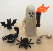 NEW LEGO GLOW-in-the-DARK GHOST +bat,spider,etc. halloween minifig minifigure