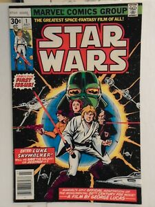 """Marvel STAR WARS #1 (1977) Part 1 of """"A New Hope"""" Movie Adaptation NICE"""