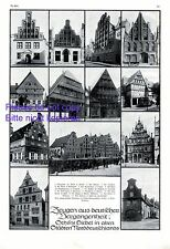 Gable & Houses in Northern Germany 1920 XL page 13 images Herford Brandenburg