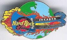Hard Rock Cafe JAKARTA 2001 HRC 30th Anniversary PIN Flaming Guitar Globe #3822