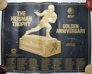 1984 The Heisman Trophy Golden Anniversary Signed by Doug Flutie Boston College