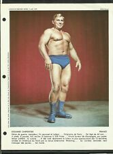 EDOUARD CARPENTIER 1973 WRESTLING 8.5 X 11 DDH  PHOTO (ORIGINAL) GREAT CHAMP.