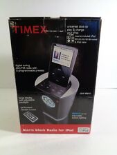 TI700 Timex Alarm Clock Radio IPOD Dock Original Box + Instructions