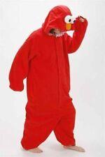 Sesame Street Elmo Cookie Monster Costume Adult Pajamas Pyjamas Onesie Sleepwear