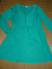 Mini-Damenkleider im Tuniken-Stil aus Baumwolle ohne Muster