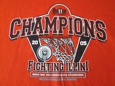 2005 Big 10 Conference Champions Fighting Illini Chief T-Shirt 2Xl Basketball