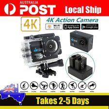 "SJ9000 4K HD WiFi Sports Action Cam DVR 2.0"" LCD Screen+Dual Charger Battery Kit"