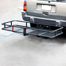 "60"" Folding Truck Car Cargo Carrier Basket Luggage Rack Hitch Travel 2"" Hitch"