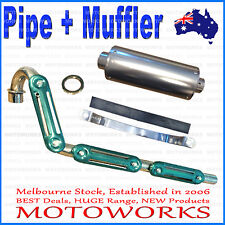 Exhaust Pipe + Muffler System +Gasket 50cc 70cc 90 125cc PIT PRO Dirt Trail Bike