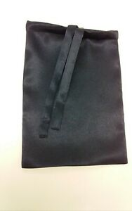 Satin Bag Black 33×23cm Large Drawstring Gift Reusable Pouche