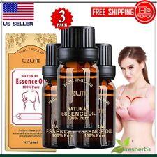 3PCS ESSENTIAL OIL BEAUTY BREAST CARE ENHANCEMENT BUST LIFT BUST UP CREAM WOMENS