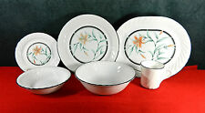 "49-PCS (SET FOR 11+) OF CORNING/CORELLE WARE ""TIGER LILY"" PAT DINNERWARE/CHINA"